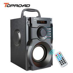 TOPROAD Big Power Bluetooth Lautsprecher Wireless Stereo Subwoofer Schwere Bass Lautsprecher Musik Player Unterstützung LCD Display FM Radio TF