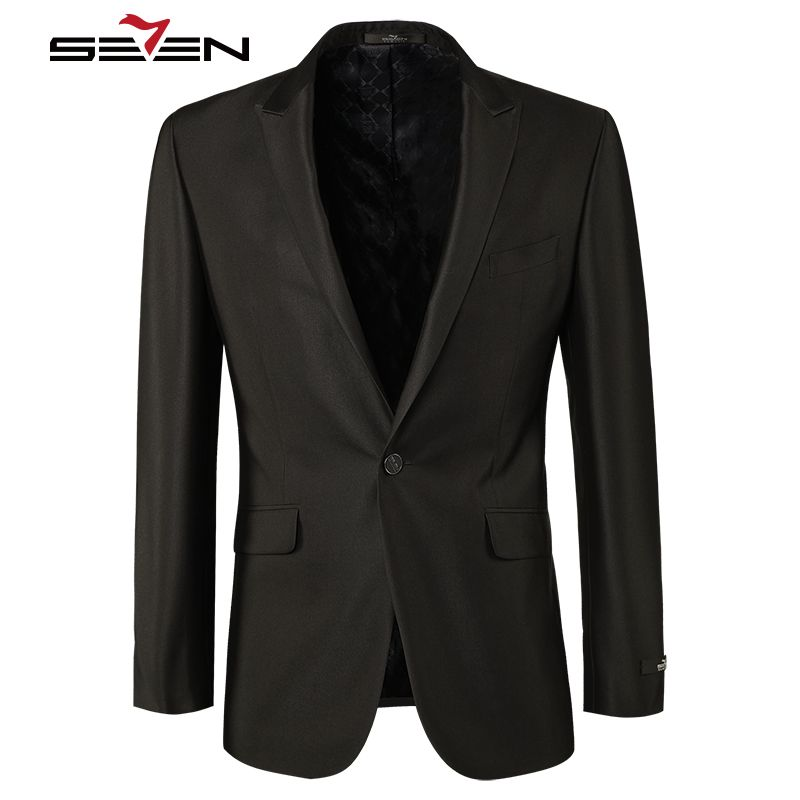 Seven7 Brand Fashion Men Blazer Suit Jackets Masculin Slim Fit  Male Casual Blaser Italy Style Wedding Business Clothes E99C1314