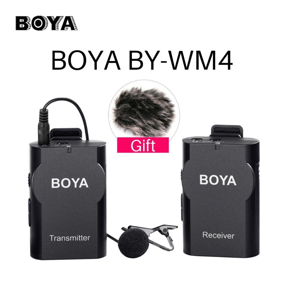 BOYA BY-WM4 беспроводной Studio Видео камера микрофон системы конденсаторный микрофон интервью для iPhone видеокамеры Canon Nikon Pentax DSLR