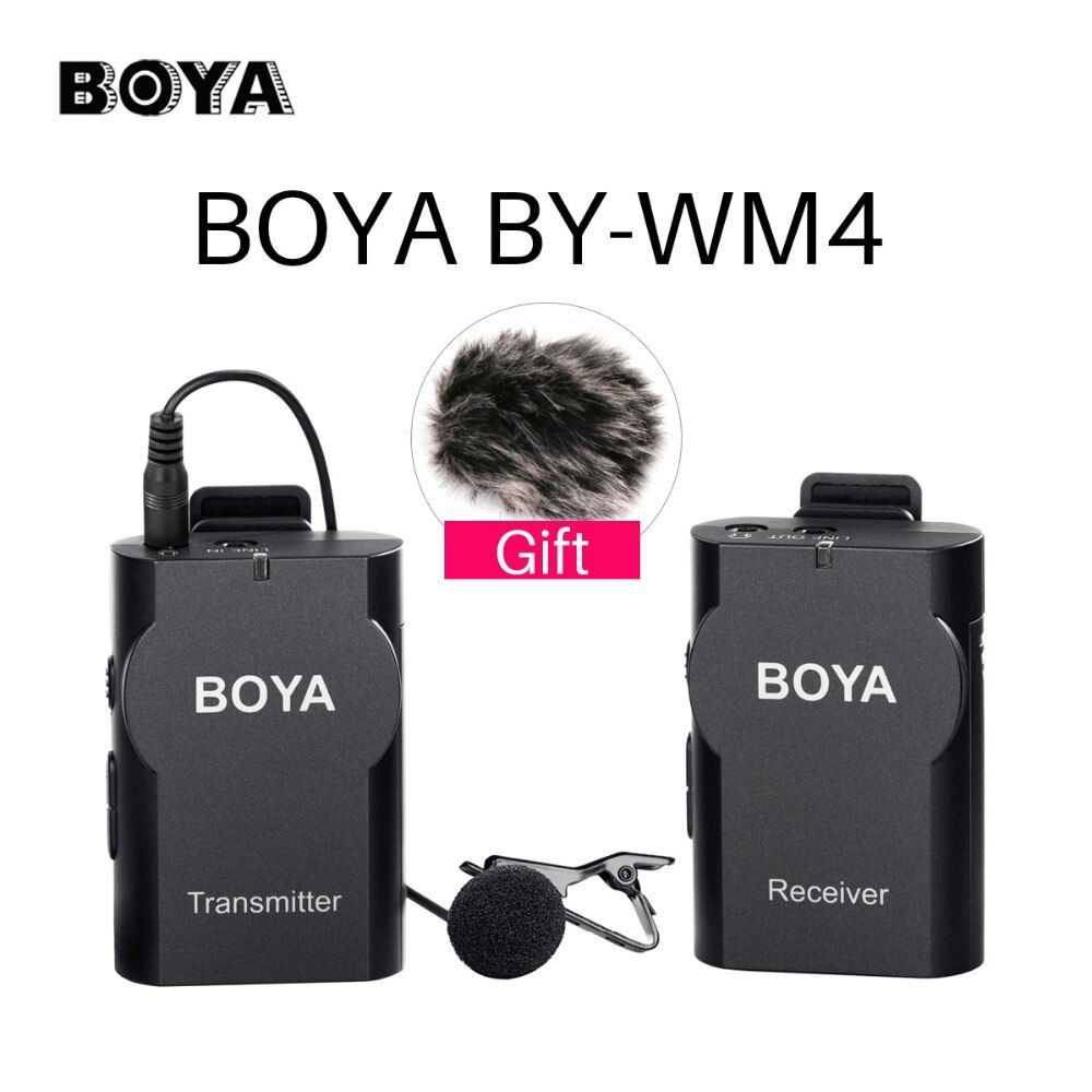 BOYA BY-WM4 Wireless Studio Video Camera Microphone System Condenser Mic Interview for iPhone Camcorder Canon Nikon Pentax DSLR