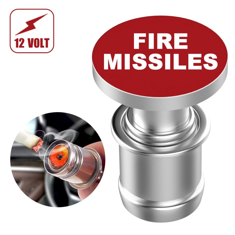 Car Cigarette Lighter EJECT FIRE MISSILE Button Replacement 12V Accessory Push Button Fits Most Automotive Vehicles by Citadel