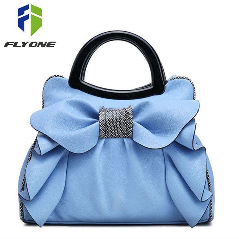 Sacs à main Flyone marque de mode sacs à poignée supérieure femmes filles sacs en cuir Bow luxe femmes sac fourre-tout Bow dames sac à main