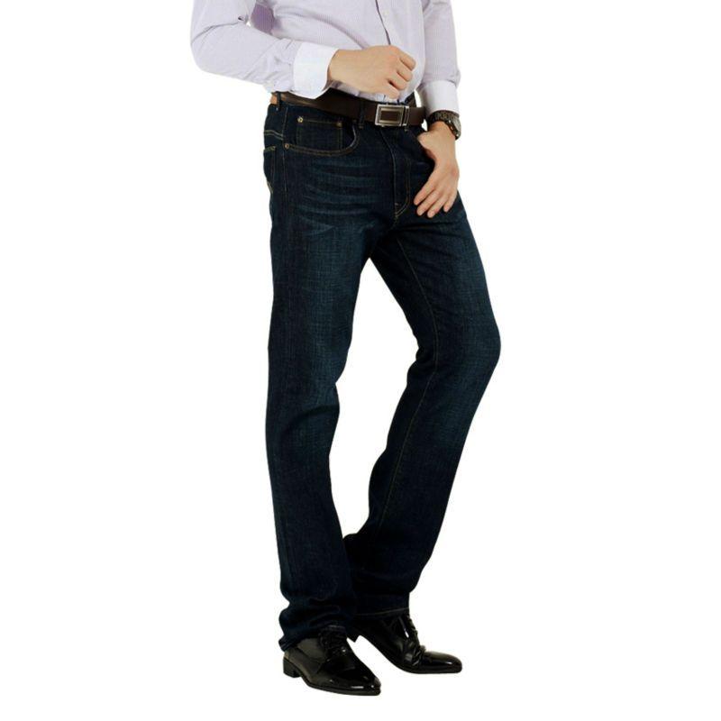 Wow! Marque Jeans hommes Jeans grand/grand Denim décontracté 100% coton taille basse coupe jambe droite Size28-38 taille européenne printemps/automne