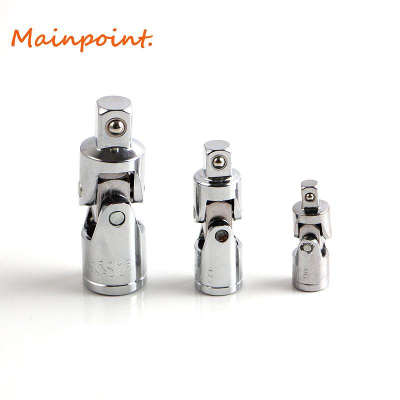 3 stücke Steckschlüssel Kreuzgelenk Sets 1/4 3/8 1/2 stick Auswirkungen Reducer Adapter CR-V Umwandlung Verlängerungsstange Hand-werkzeug-set