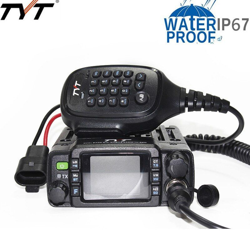 TYT TH-8600 Mini Dual Band IP67 Waterproof Mobile Transceiver 136-174MHz/400-480MHz 25W Amateur Car Radio HAM Mobile Radio