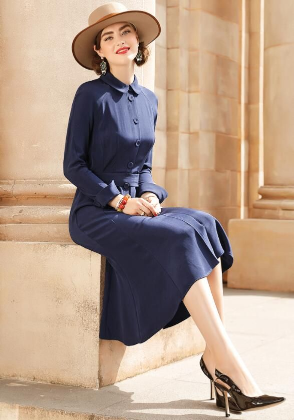 2019 Classic Autumn Winter Runway Designer Dress Women's Long sleeve Gauze Retro Noble Floral Embroidery Long Dress
