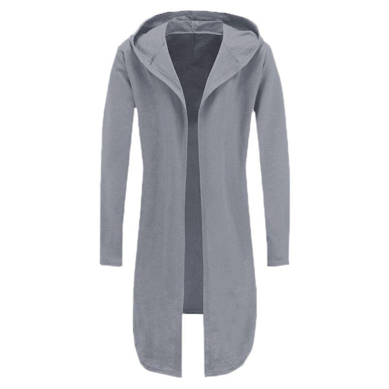 Männer Kapuzenpulli Schwarz Kleid Hip Hop Mantel Hoodies Marke Mode Langarm Offene Vordere Mantel Mann Mantel Jacke Streetwear