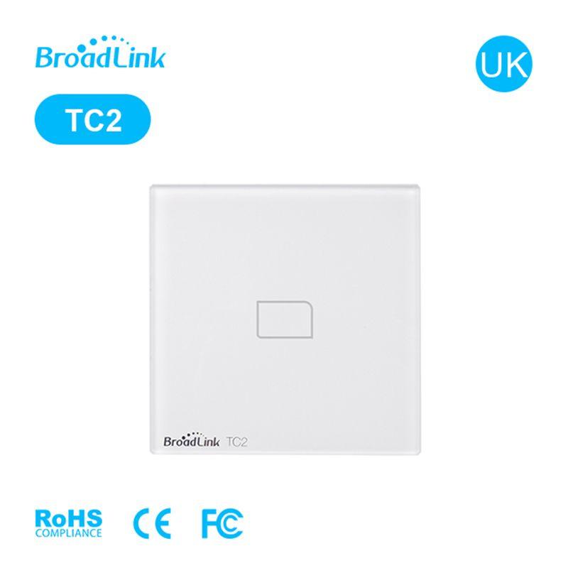 Broadlink TC2 sans fil 1 Gang interrupteur d'éclairage mural Wifi télécommande écran tactile commutateur UK standard domotique intelligente