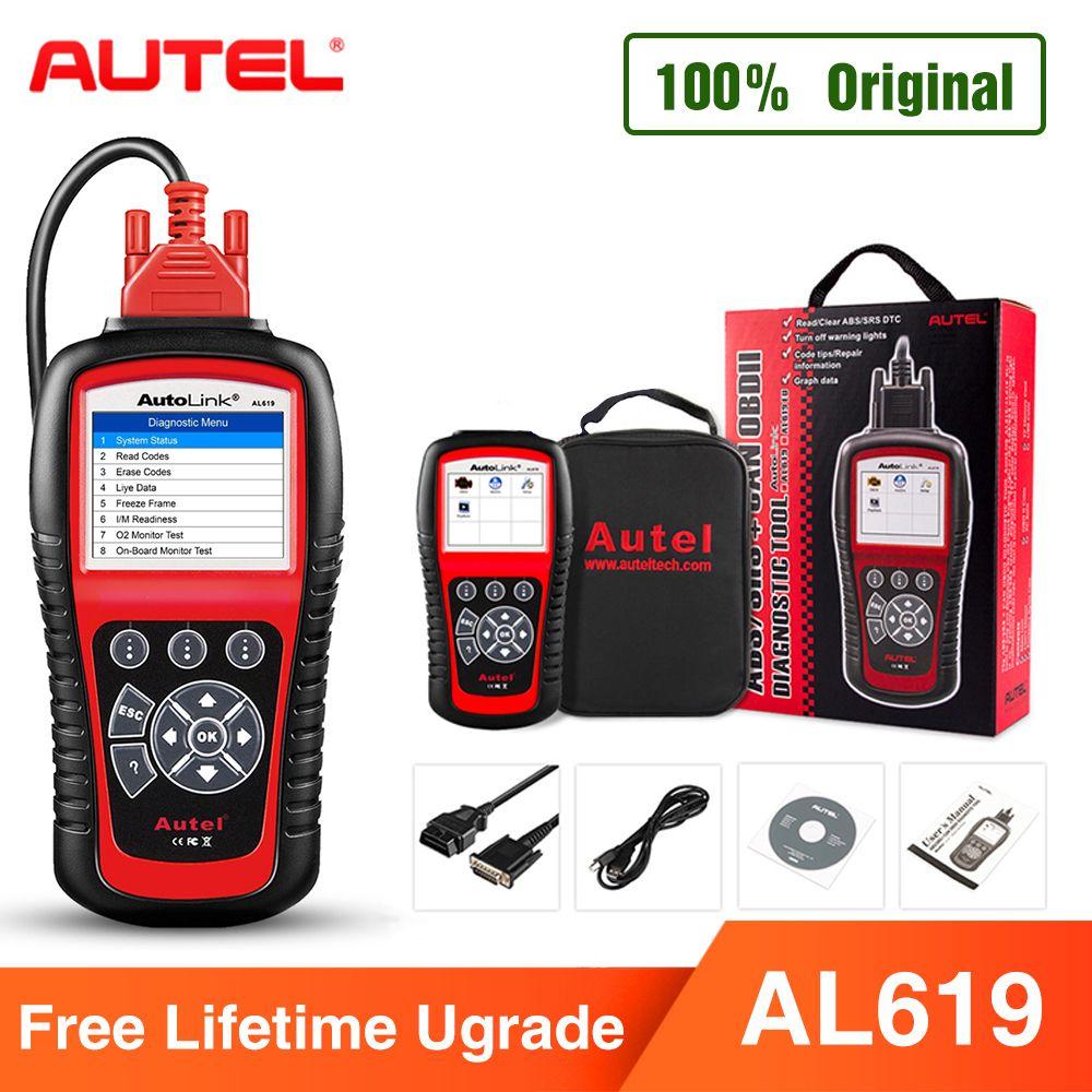 Autel AL619 OBD2 Scanner Auto Diagnose Werkzeug Auto Code Reader Motor, ABS, SRS Automotive Scanner besser als starten X431