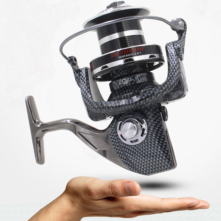 Haute-fin FDDL 9000 10000 type 12 + 1BB tout en métal ligne tasse spinning reel grand long shot roue de pêche bobine carretilha par pesca