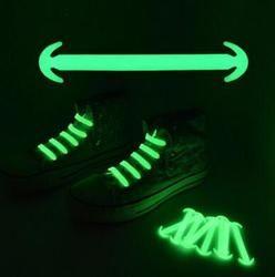 Nouveau Silicone Unisexe Élastique Aucune Cravate Chaussures Dentelle Sport Sneakers Lumineux Sangle Lacet Chaussure Ox Corne Chaussures Dentelle 14 pcs/lot