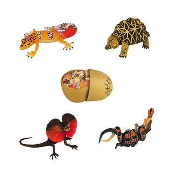 UKENN 4 pcs 3D Puzzle Egg African Animal Figures Set Educational Toys