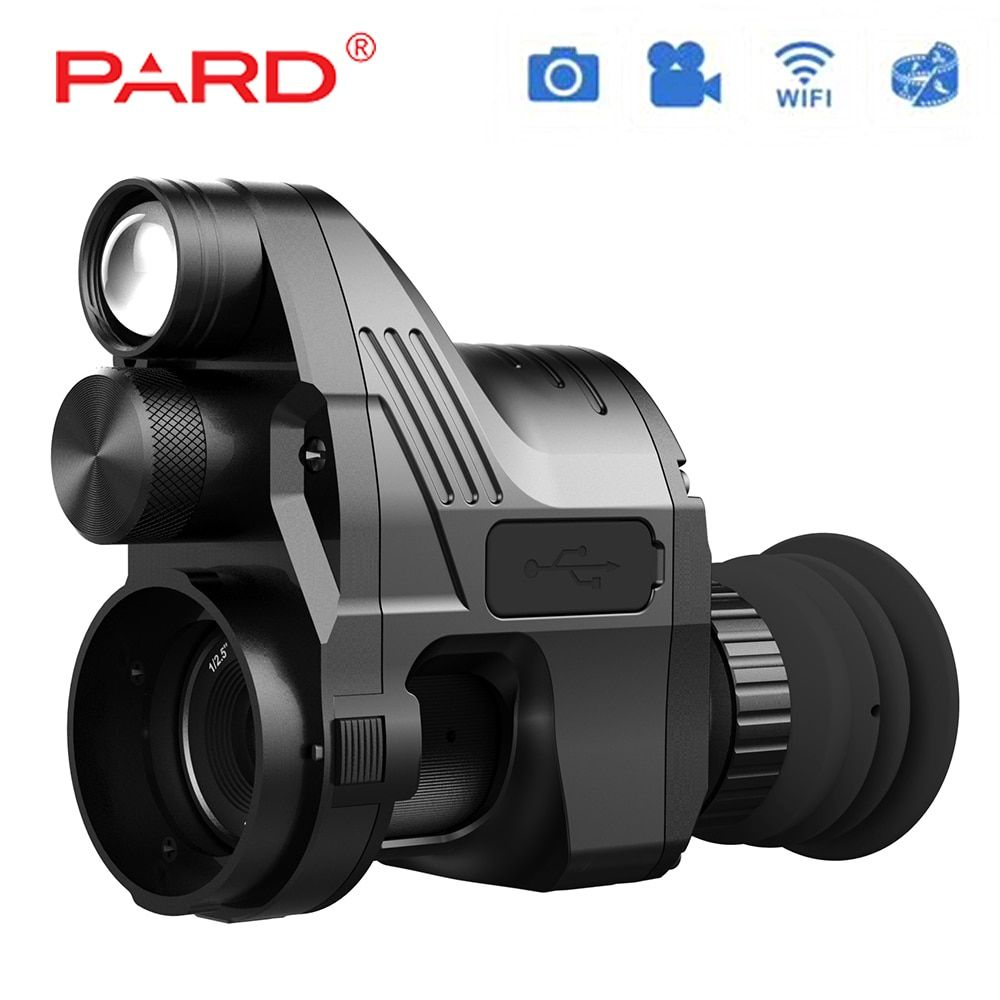 PARD Infrared Night Vision Telescope Hunting Scope HD 1944 Picture Wildlife Hunting Cameras NV007 Rilfescope Tactical Scope