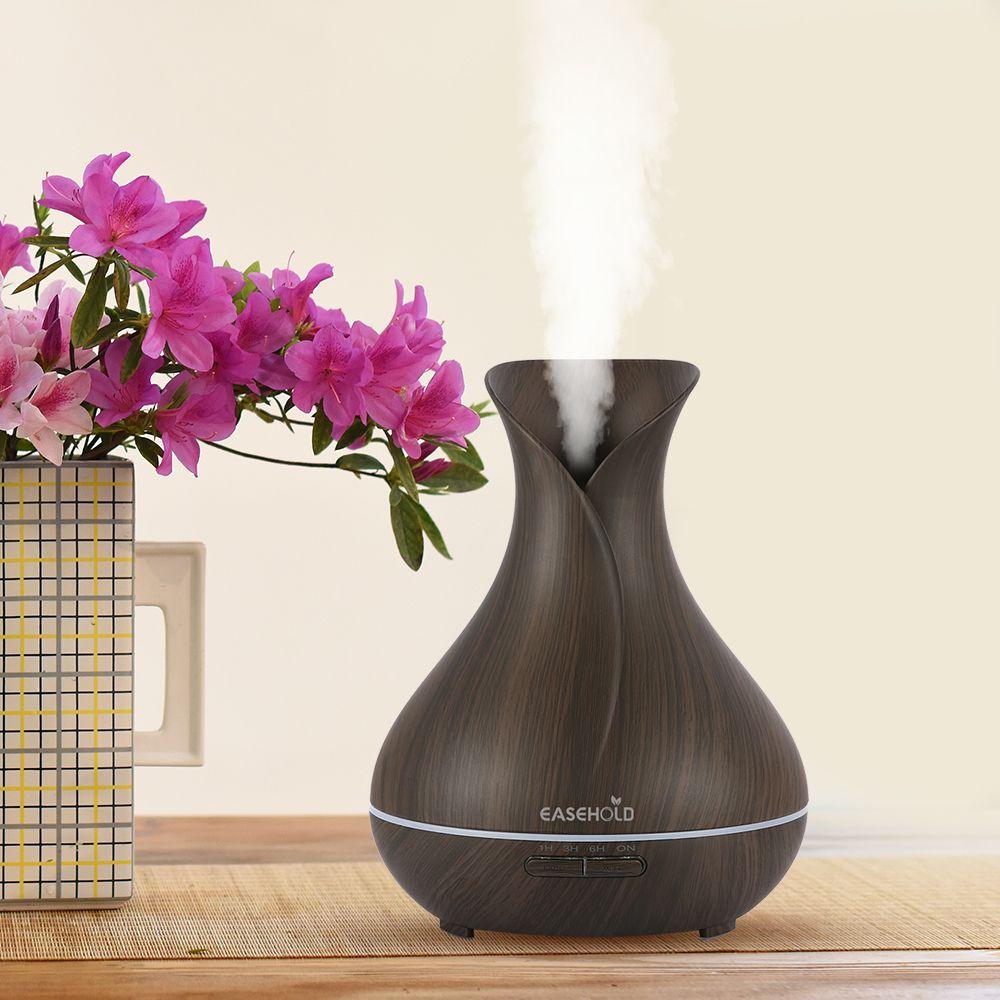 EASEHOLD Huile Essentielle Diffuseur Humidificateur D'air Arôme Lampe Aromathérapie Électrique Ultrasons Aroma Diffuseur Mist Maker pour Bureau