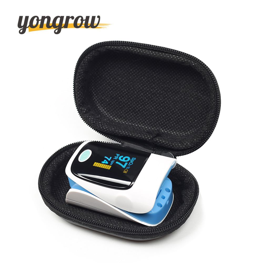Yongrow Medical Household Digital Fingertip pulse Oximeter <font><b>Blood</b></font> Oxygen Saturation Meter Finger SPO2 PR Monitor CE Portable