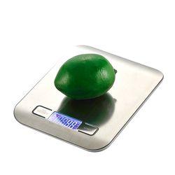 1 unids LCD Digital cocina Básculas 5 kg x 1g peso dieta Halloween herramienta de cocina con Super Delgado plataforma de acero inoxidable mct-20