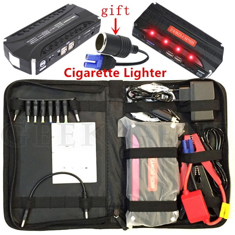High Capacity 600A Car Jump Starter Portable 12000mAh Power Bank Auto Starting Device 12V Emergecy Car Battery Booster Charger