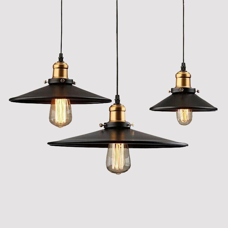 1 PCS Loft RH Industrial Warehouse Pendant Lights American Lamps Vintage Lighting for Restaurant/Bedroom Home Decoration Black