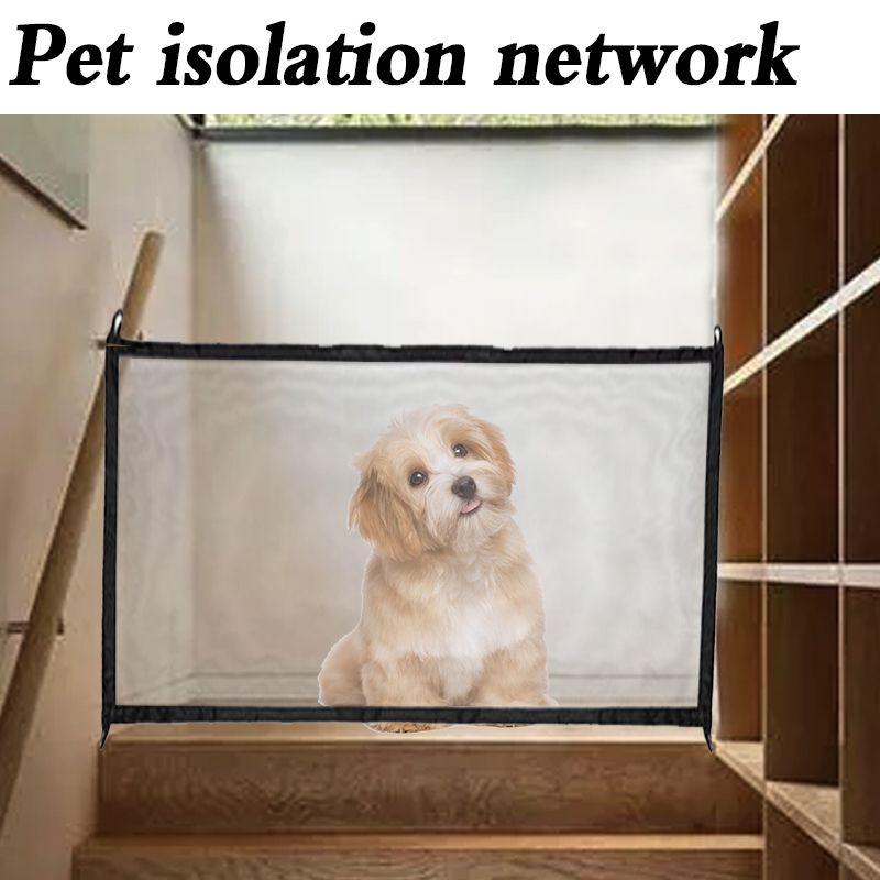 Livraison directe 2018 porte de chien la maille ingénieuse magique porte pour animaux de compagnie pour chiens garde sûre et installer des clôtures de chien de sécurité clôture de chien