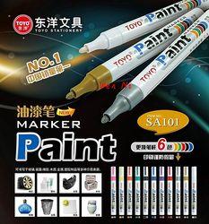 1pcs 100% Authentic TOYO color marker waterproof permanent marker tire tread rubber paint metal face Permanent Paint Marker Pen