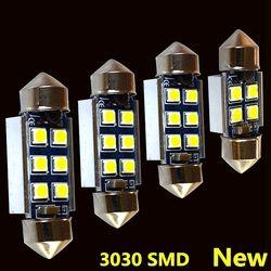 4 шт. высокое качество 31 мм 36 мм 39 мм 42 мм супер яркий 3030 светодиодный гирлянда лампа Canbus C5W C10W автомобилей плафон авто Интерьер лампа белого