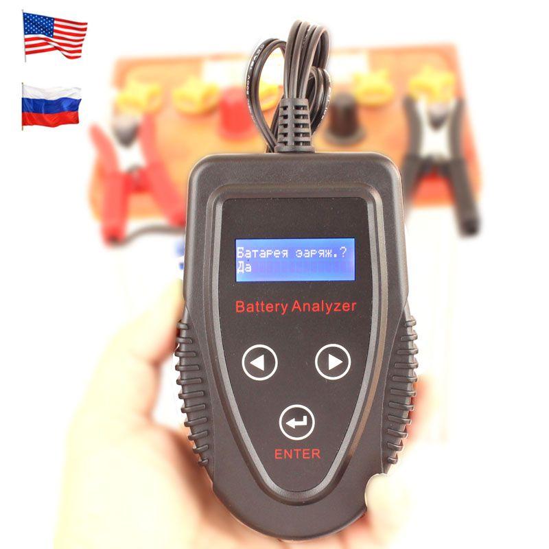 FOXSUR 12 v Automotive Digital Auto Batterie Tester Russische Englisch sprache Ankurbeln System Tester CCA IR Lade System Tester