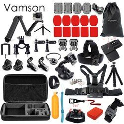 Vamson for Xiaomi 4k Accessories Set for gopro kit 3 way Monopod selfie stick for Gopro Hero 5 4 3+for xiaomi for yi Camera VS53