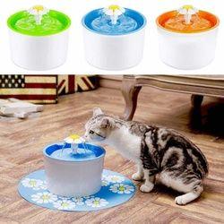 Automatique Chat Chien Électrique Pet Potable Fontaine Pour Animaux De Compagnie Bol Potable Distributeur De Boisson D'eau Filtre