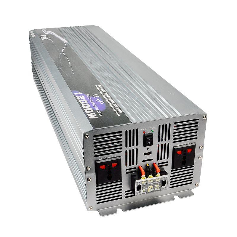 Beruf Hersteller Auto Power Inverter 12000 watt Reine Sinus Welle DC 12 v Zu AC 220 v Off-Gird solar/Wind Power Inverter