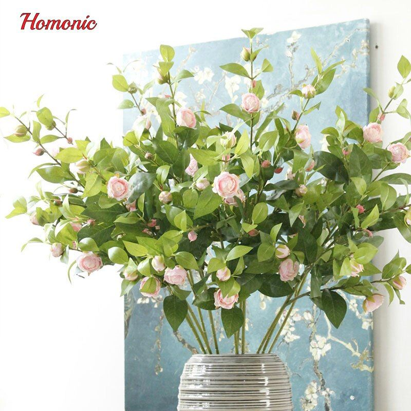 5 tête décor thé Rose fleurs artificielles soie fleurs Floral soie vraie touche Rose mariage Bouquet maison fête Design fleurs P30