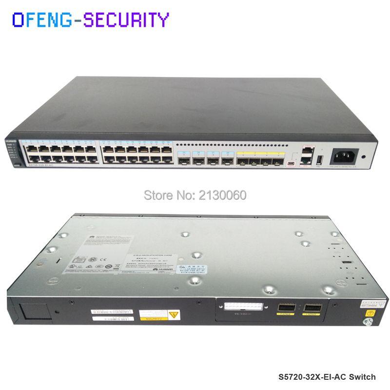 24 port schalter Original Huawei schalter S5720-32X-EI-AC mit 24 port sfp S5720 32X EI AC