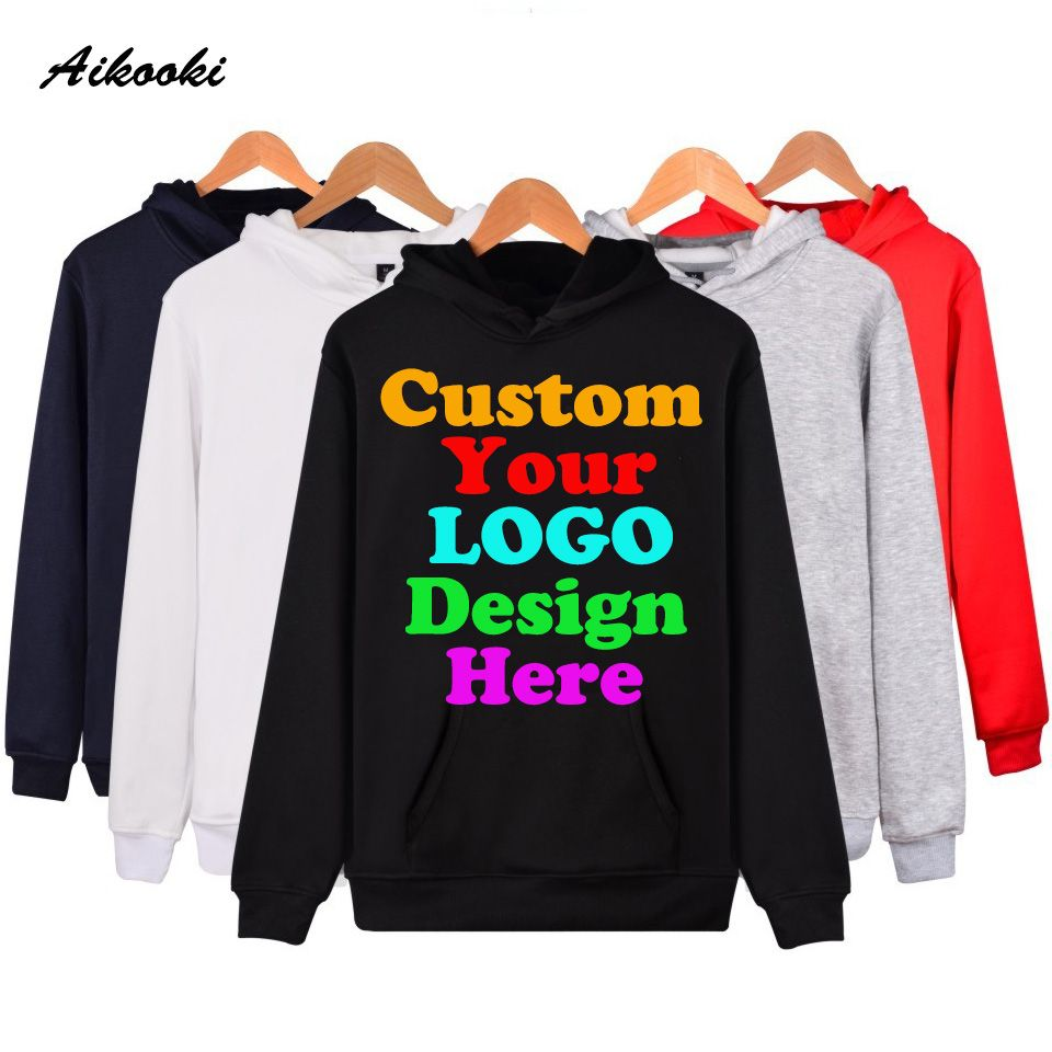Custom Hoodies Logo Text Photo 3D Print Men Women Personalized Team Family Customize Sweatshirt Polluver Customization Clothes