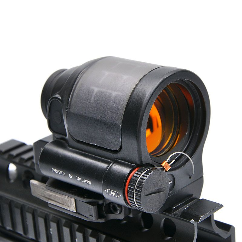 Trijicon SRS 1X38 Red Dot Sight Scope Tactical Hunting Scopes Reflex Sight Solar Power System With QD Mount Optics Rifle Scope