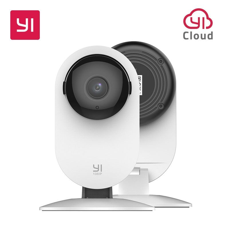 YI 1080p caméra d'intérieur IP système de Surveillance de sécurité avec Vision nocturne pour la maison/bureau/bébé/nounou/Pet moniteur blanc