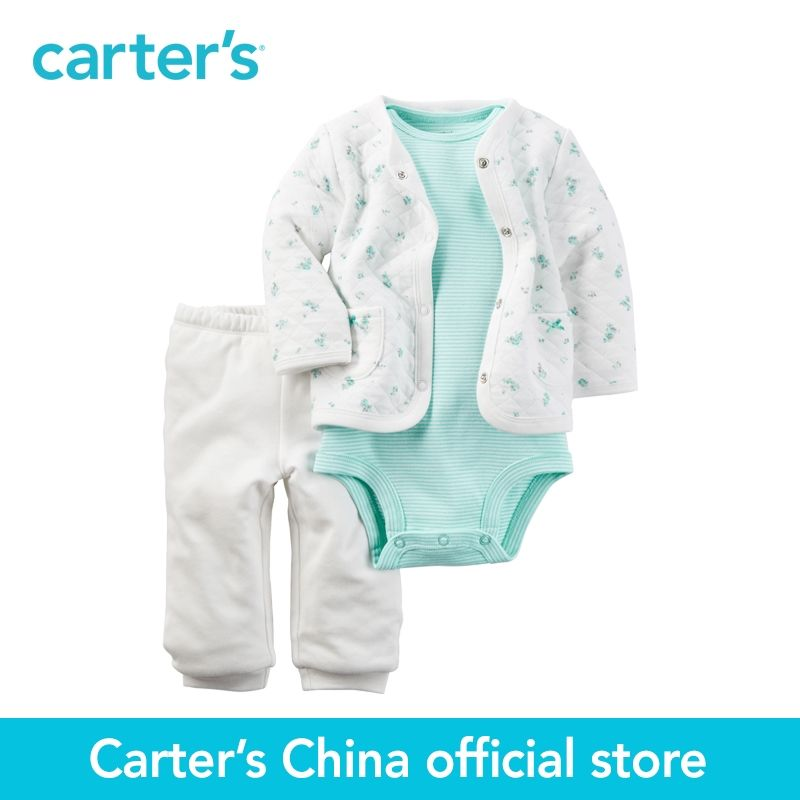 Carter's 3pcs baby children kids Mint Padded Cardigan Set 121H346,sold by Carter's <font><b>China</b></font> official store