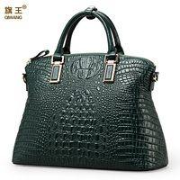 Qiwang auténtico mujeres cocodrilo bolsa 100% las mujeres de cuero genuino bolso Venta caliente bolso de las mujeres bolsa de bolsas de marca de lujo