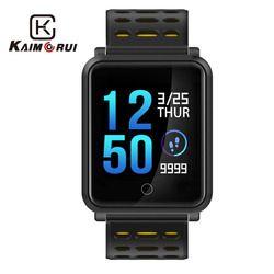 Kaimorui Montre Smart Watch Hommes IP68 Étanche Couleur Écran Smart Bracelet Coeur Taux Tracker Modifiable Bande Bluetooth Smartwatch