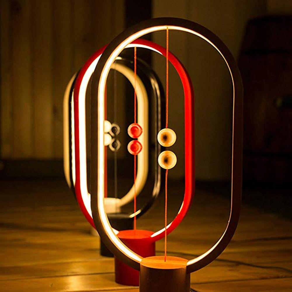 VIP Client Lien personnalisé Pour Dropshipping Heng Équilibre LED Table Lampe Ellipse Magnétique Mid-air Commutateur USB Propulsé Chaudes blanc