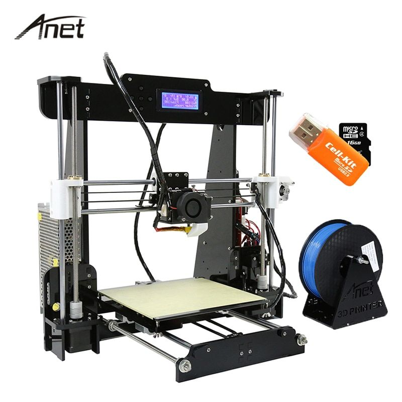 Anet Desktop A8 Auto Leveling Impresora 3D Printer DIY Kit 3D Printers Aluminum Motor 0.4mm Nozzle With 10m Filament SD Card