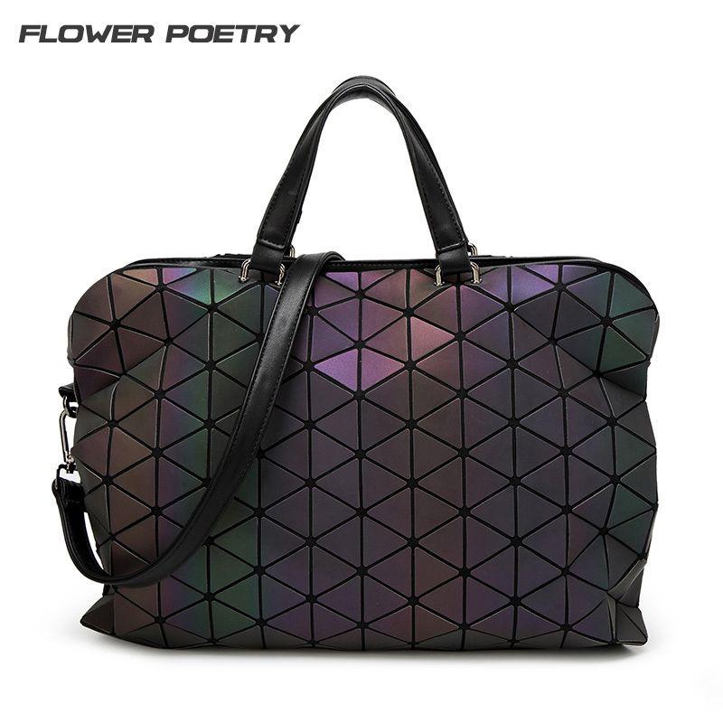 Baobao Luxury Brand Bag Women Handbags Luminous Geometric Folding Elegant Bao Bao Shoulder Bags Big Tote Top Hand Bag