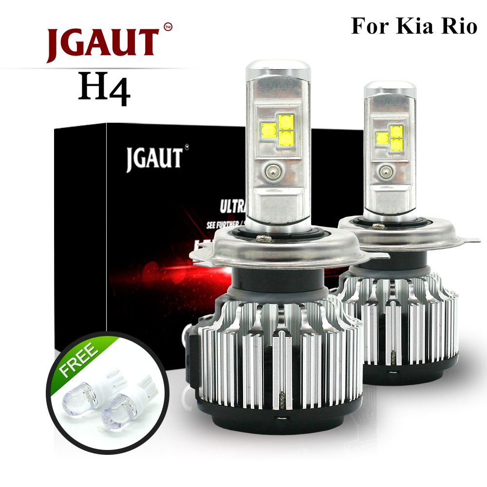 JGAUT For Kia Rio Car Led Headlight H4 LED 80W/Set Super Bright 8000LM Hi-Lo Beam Compact Car Headlight 6000K Auto Headlamps