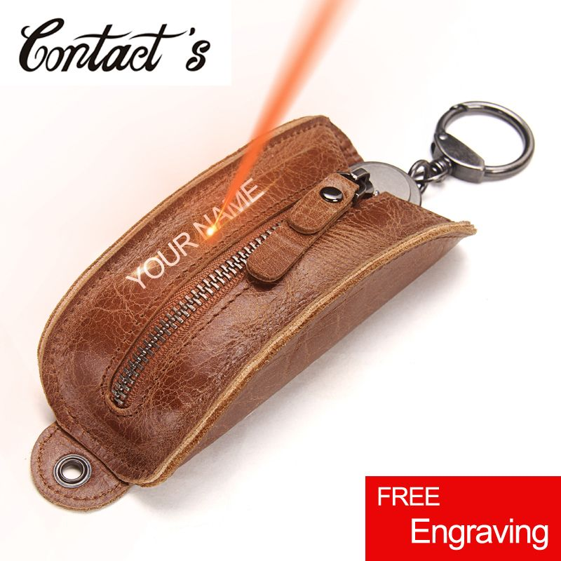 2018 Key Organizer Genuine Leather Keychain Wallet Men And Women Multifunctional Car Key Pouch Luxury Brand <font><b>Pillow</b></font> Housekeeper