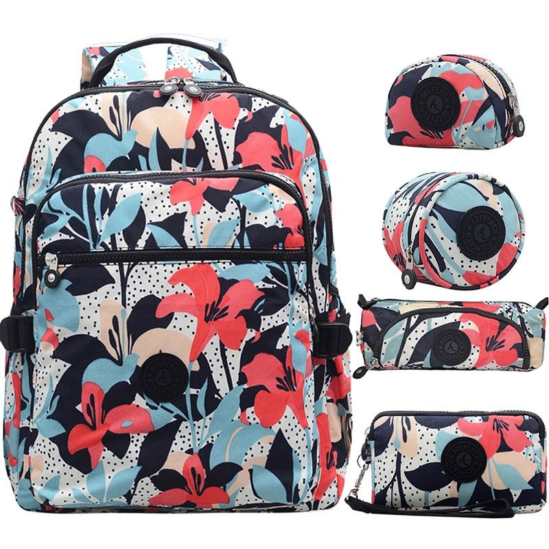 ACEPERCH Women Mochila Escolar Feminina Multifunction School Girl Bag pack Original Nylon Waterproof Backpacks Female Sac 2019