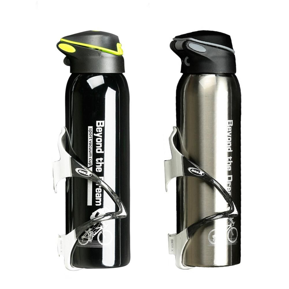 500 ML Bike Water Bottle Outdoor Sport Portable Bicycle Kettle Warm-keeping Water Bottle Aluminum Alloy Mountain Cycling Bottle