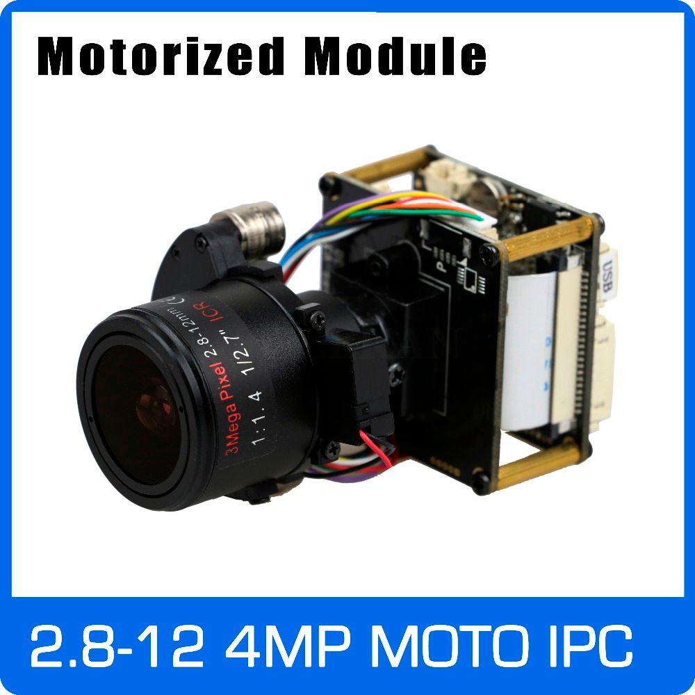 Caméra IP 4MP 2.8-12mm Zoom motorisé et lentille focale automatique 1/3