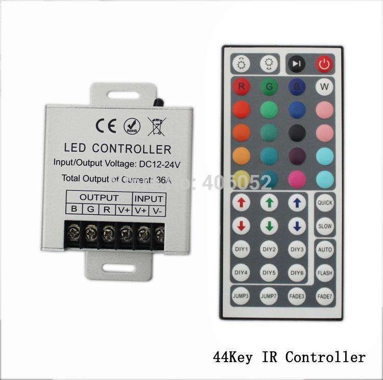 Aluminum shell 30A 12V 24V 360W 720W 44 key ir remote led controller for 35m rgb strip