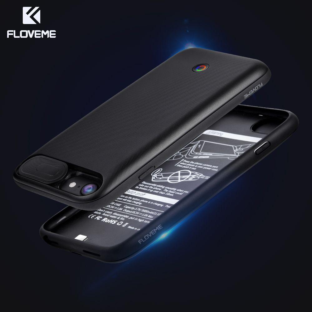 FLOVEME Batterie Chargeur Cas Pour iPhone 6 6 s 7 8 3000 mAh/4200 mAh puissance Banque De Charge Cas Pour iPhone 7 6 8 Plus Externe de sauvegarde