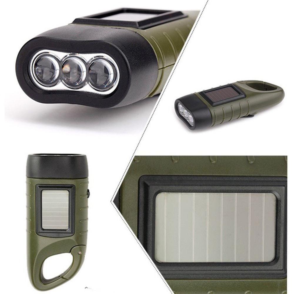 Professionnel Conception Traditionnelle Portable LED Manivelle Dynamo Solaire Puissance Lampe de Poche Torche pour Camping En Plein Air Alpinisme