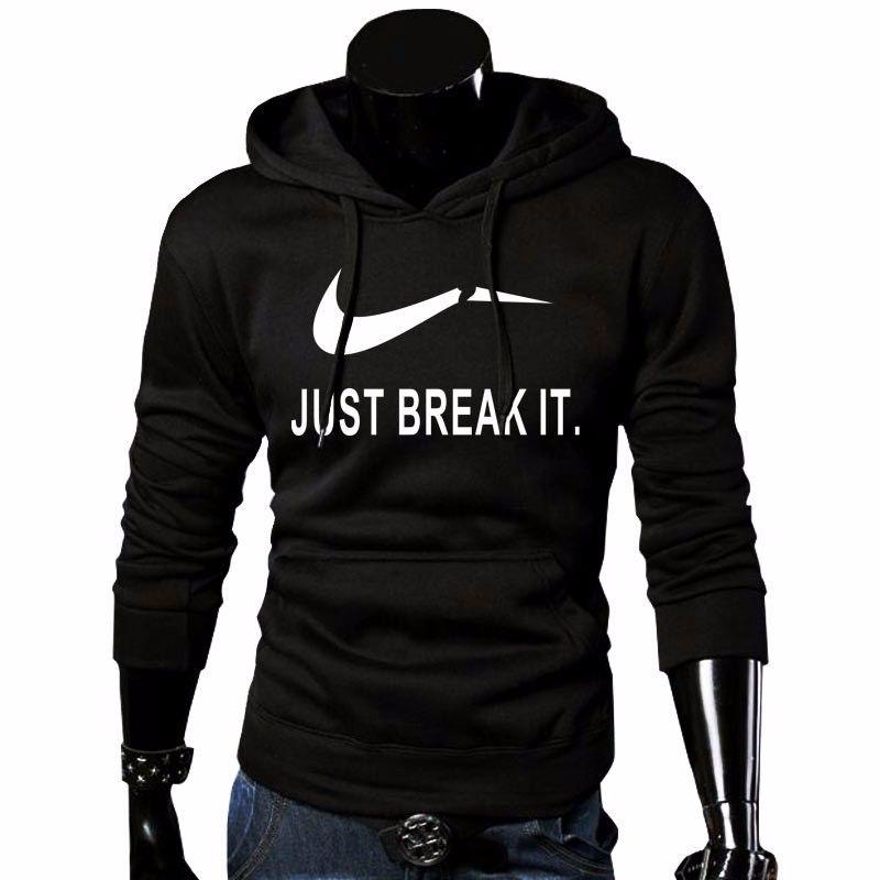 2018 Automne Nouvelle Arrivée Haute JUSTE CASSER Imprimé Sportswear Hommes Sweat Hip-Hop Mâle À Capuche Hoodies Pull Sweat À Capuche vêtements