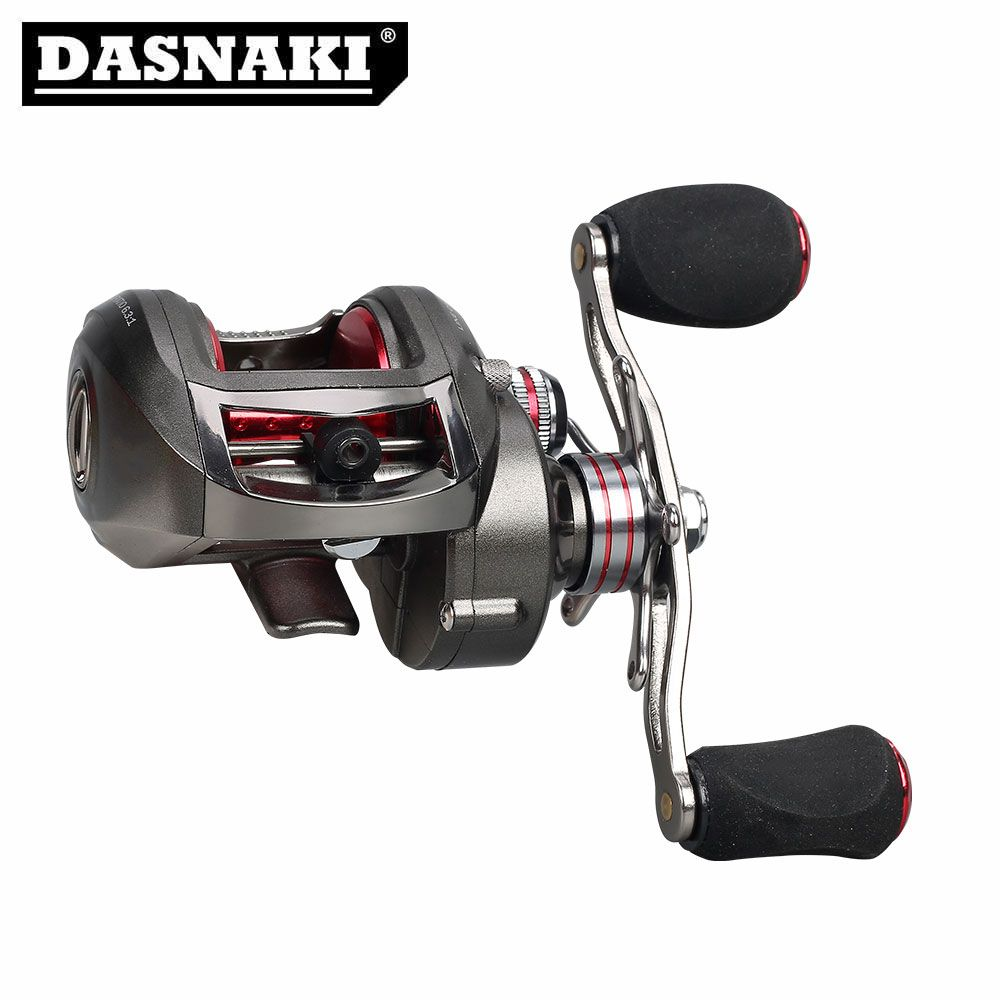 DASNAKI Bait Casting Fishing Reel 13+1 BB Solid main body Centrifugal & Magnetic brake Systems Right/Left BaitCasting Reels